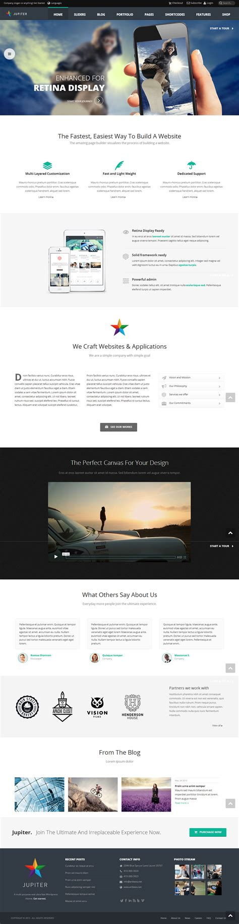 themeforest jupiter jupiter premium responsive multi purpose wordpress theme