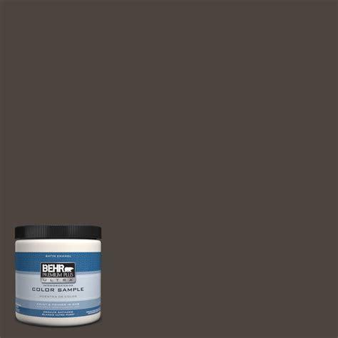 behr premium plus ultra 8 oz ppu5 1 espresso beans interior exterior satin enamel paint sle