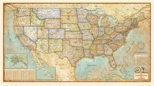 vintage map of the united states antique us map mural