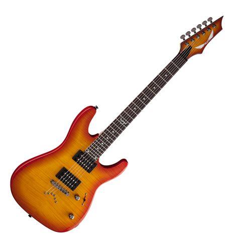 Dean Custom 350 dean custom 350 electric guitar trans amberburst at