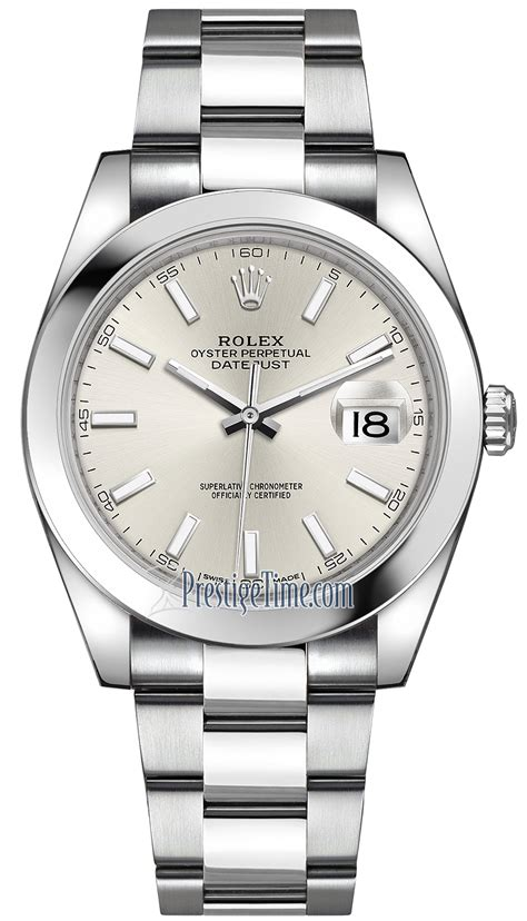 Rolex Rantai Silverblack 126300 silver index oyster rolex datejust 41mm stainless steel mens