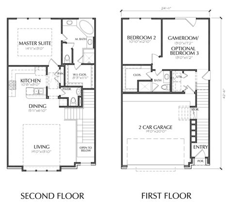 floor plans 2 story 2 story townhouse floor plan for sale