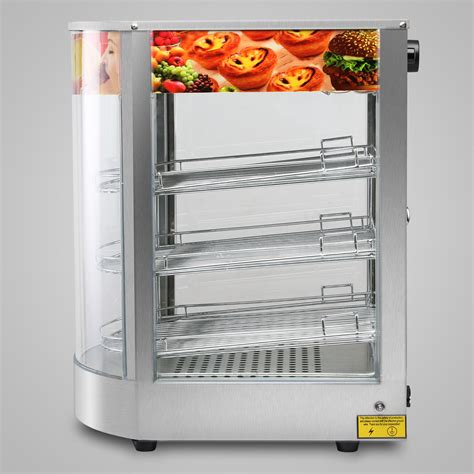 heated pizza display cabinet food warmer countertop glass