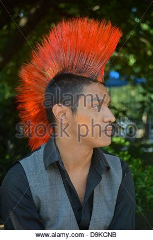 haircuts union city boy with mohawk hair style stock photo royalty free image