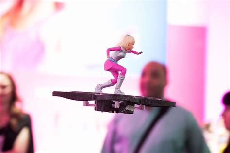 barbie star light adventure flying rc hoverboard move over pink convertible barbie has a hoverboard now