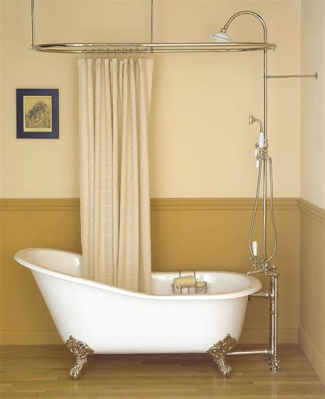clawfoot bath shower curtain rail inspiring bathroom decor with clawfoot tub shower oval