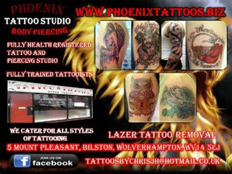 phoenix tattoo bilston phoenix tattoos bilston youtube