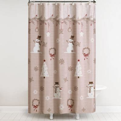 holiday shower curtain buy holiday owls shower curtain from bed bath beyond