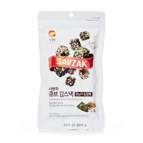 Daesang Dried Seaweed seaweed cubes with qunoa and sesame try the world