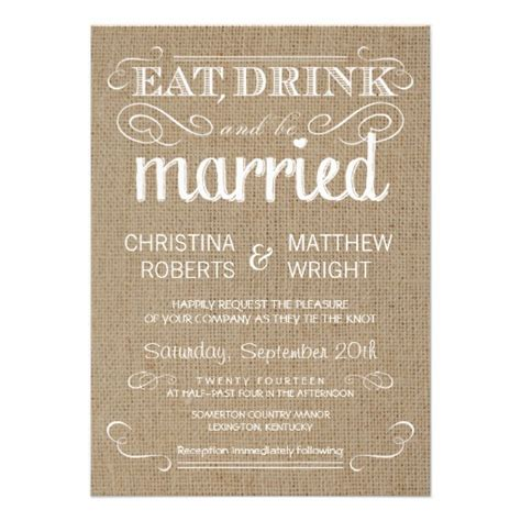 Wedding Invitations Country by Burlap Rustic Country Wedding Invitations Zazzle