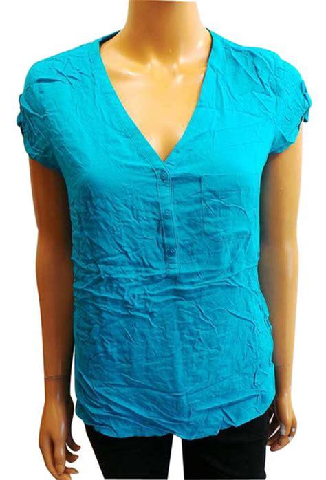 Branded Cato Vneck Blouse wholesale joblot of 10 de branded turquoise v neck blouses