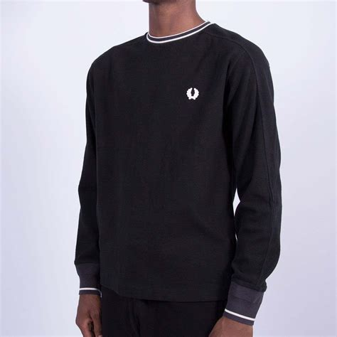 L S T Shirt fred perry x nigel cabourn l s goalkeepers t shirt black