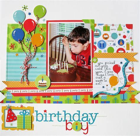 layout design for birthday layout birthday boy