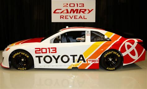 Nascar Toyota Toyota Reveals 2013 Nascar Camry We Sit With The