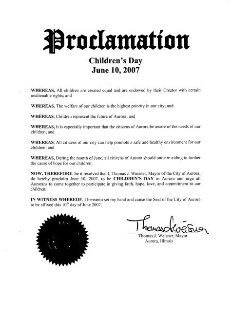 national children s day proclamations resolutions