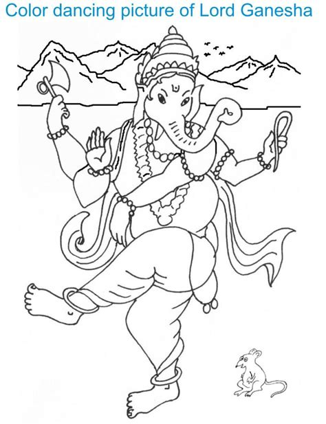 printable ganesh images ganesh chaturthi coloring page for kids 1