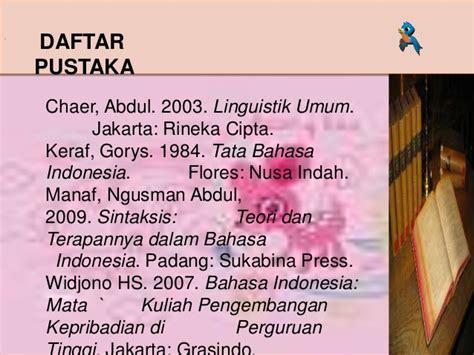 Bahasa Indonesia Mata Kuliah Pengembangan Kepribadian 4 Kata Frase Dan Klausa Dalam Kalimat
