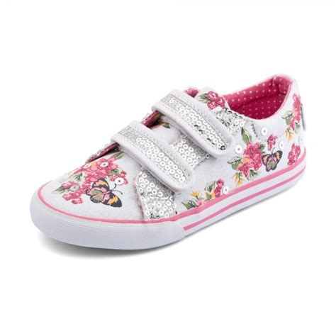 botanical s white sparkle canvas shoe