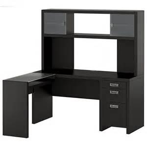Small Office Desk With Hutch New York Skyline Modern Mocha Small Office L Desk Hutch