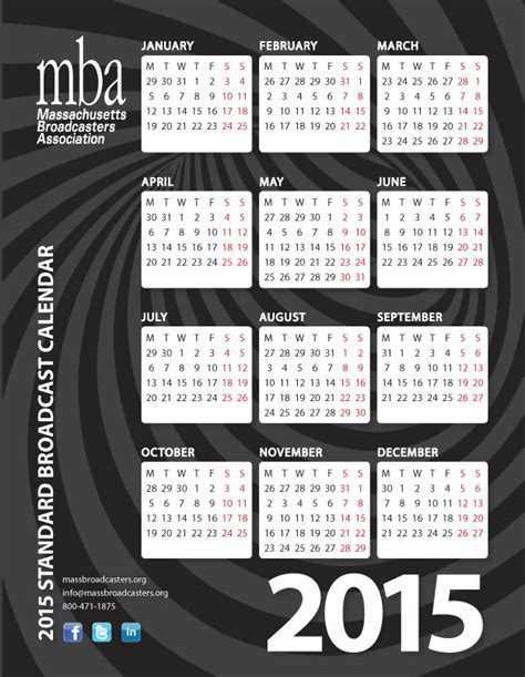 Mba Calendar by Broadcast Calendar Massachusetts Broadcasters Association