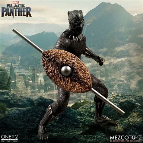 figure black panther mezco s black panther one 12 collective figure is ready to