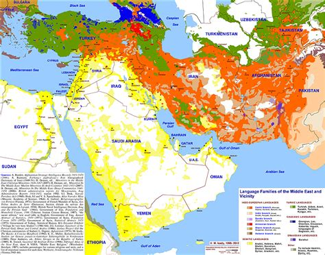 middle east map languages mei editor s great maps from gulf 2000
