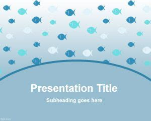 Fish Powerpoint Template With Small Fishes In The Master Fish Ppt Templates Free
