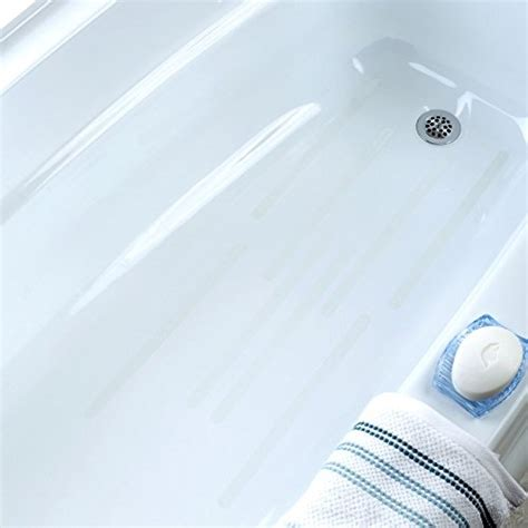 bathtub safety treads adhesive 14 5 quot bath safety treads clear 8 count