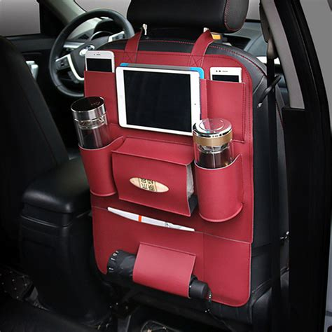 cars with back seats car back seat multi pocket phone cup holder pu leather