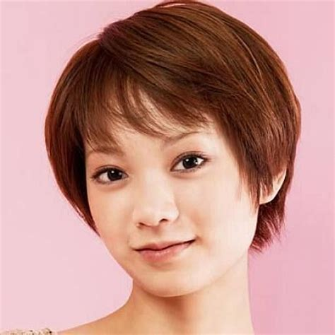 korean hairstyles for fine hair cute short hairstyles for thin hair and round face short