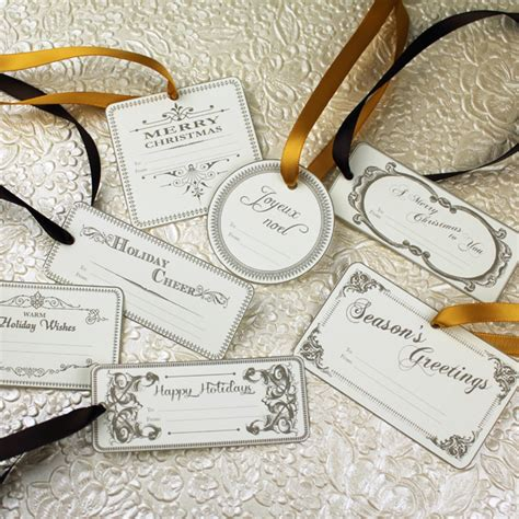 printable old fashioned christmas gift tags over 40 free christmas printables