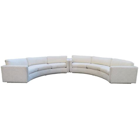 circular sectional fabulous two piece milo baughman circular sectional sofa