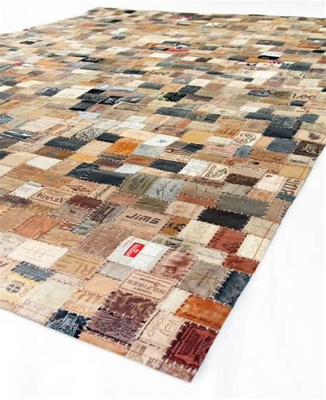 Tag Rugs by Leather Rug Made From Tags Products I