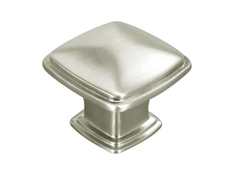 "Satin Nickel Cabinet Drawer 1 1/4"" square Knob 81091 31MM"