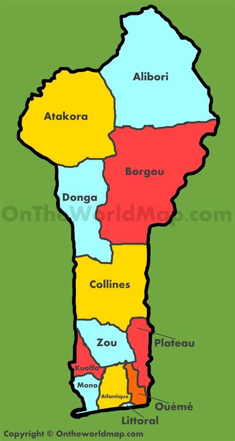 benin on the map administrative map of benin