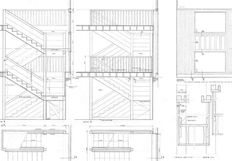 stairs floor plan fisher house kahn plans get house design ideas