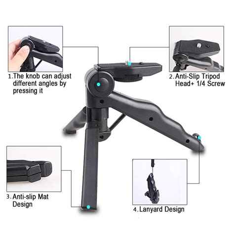 Mini Tripod 2 In 1 Portable Mini Folding Tripod For Dslr Hitam Paket 2 In 1 Portable Mini Folding Tripod For Dslr