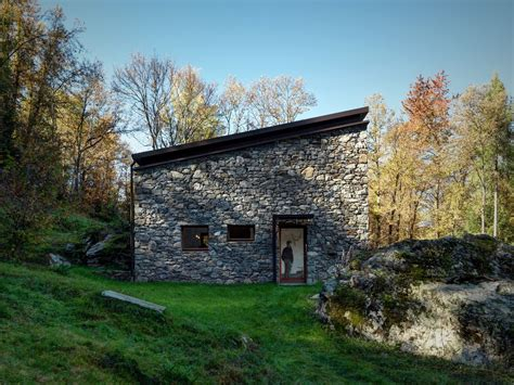 Home Design Kitchen Upstairs Modern Stone Cabin In Northern Italy Is A Romantic Gem