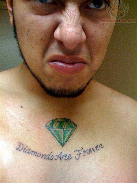 tattoo diamond green green diamond tattoo on chest
