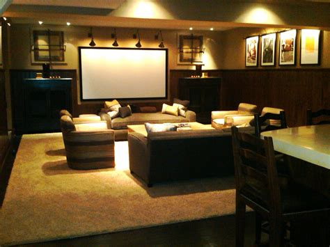 home theatre sofa sets home theater room with brown fabric sofa set on large rug