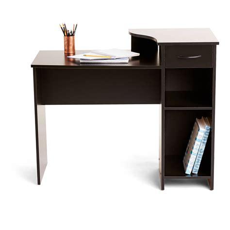mainstays student desk  easy glide drawer blackwood