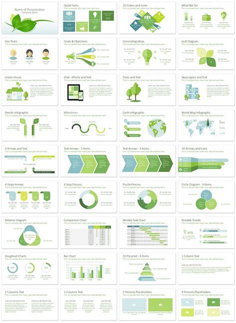 green presentation template green leaves powerpoint template presentationdeck