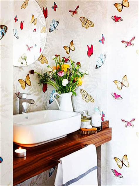 bathroom butterfly decor bird fabric decoratorsbest