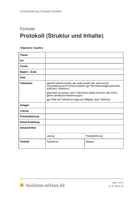 Vorlage Word Protokoll Protokoll Simultan Schreiben Formular Und Vorlage Business Wissen De