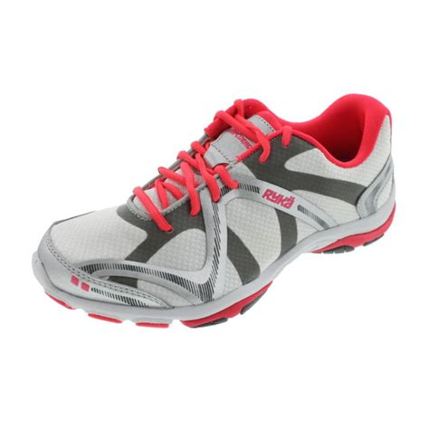 workout sneakers ryka 9498 womens influence mesh metallic workout athletic