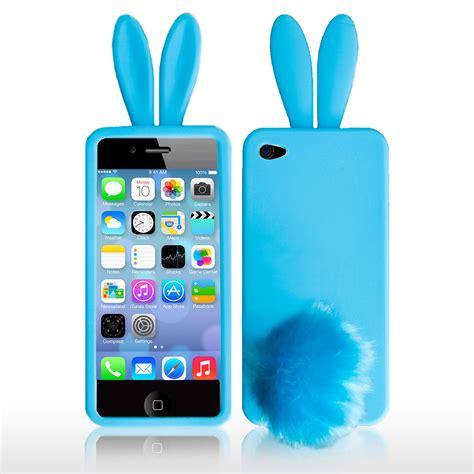 cute bunny rabbit soft case cover skin  iphone   screen protector ebay