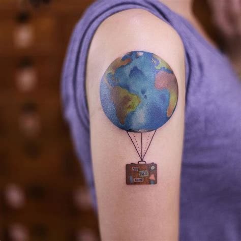 suitcase tattoo designs 20 earth designs and ideas tattoobloq