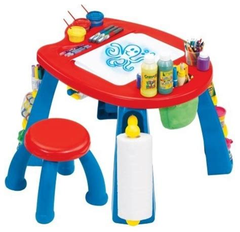 Grown Up Crayola Creativity Play Station Art Table   Contemporary   Kids Tables And Chairs   by