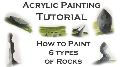 types of acrylic paint acrylic painting tutorial how to paint 6 types of rocks