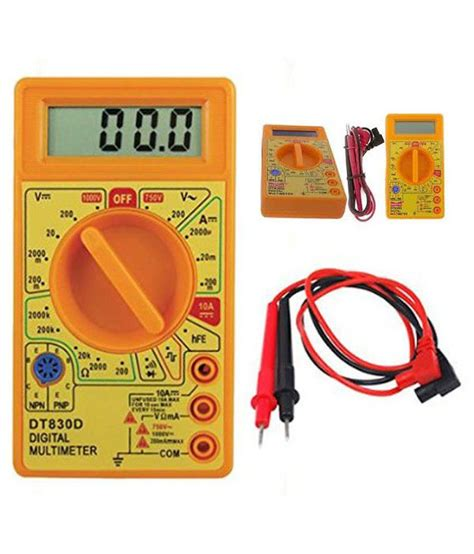 Multitester Digital Cellkit digital multimeter dt830d plastic tool kit yellow buy digital multimeter dt830d plastic tool